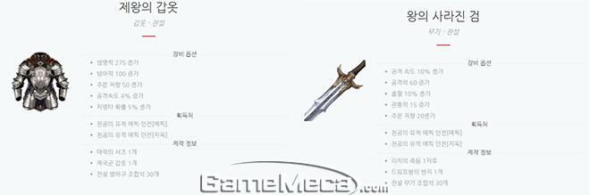다섯왕국이야기 등급표 분석 토미 무기와 갑옷