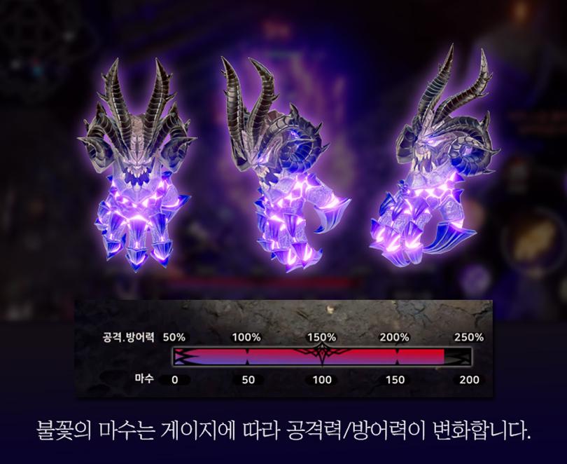 배틀로얄 신규 무기 '불꽃의 마수' (이미지 출처: 넷마블 공식 커뮤니티 갈무리)