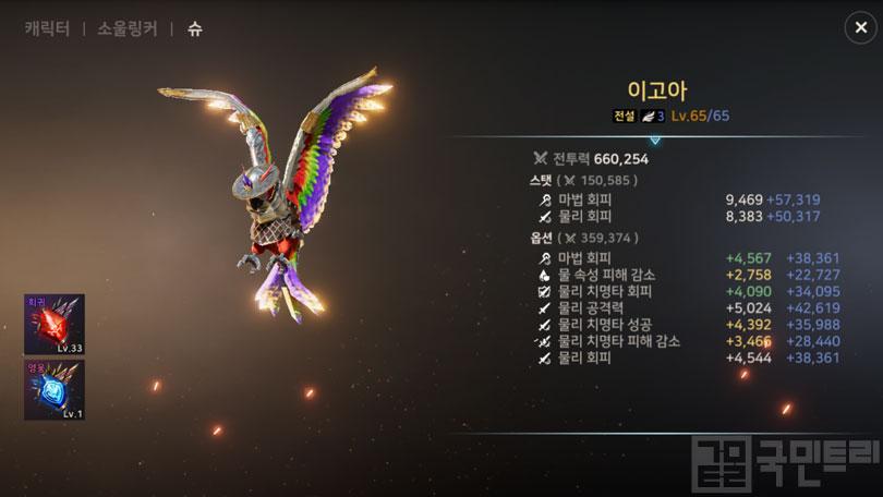 '야타이'의 장비 세팅, 소울링커, 슈
